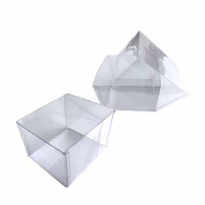 transparent plastic packaging square design